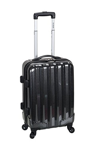 "Rockland Melbourne 20"" Non-Expandable Abs Carry On, Black Fiber"