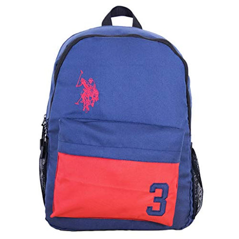U.S. Polo Assn. 3 Laptop Backpack, Navy, One Size