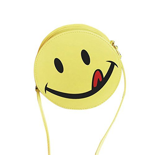 Womail Women Funny Emoji Shoulder Bag Satchel Cross Body For Girl (A)