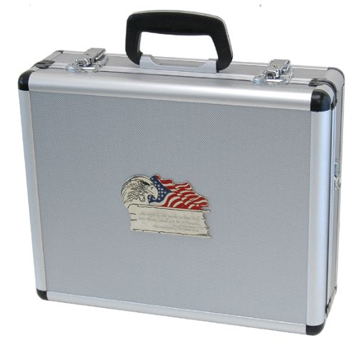 T.Z. Case International 2Nd Amendment 4 Pistol Promo Case, Silver, 16-Inch