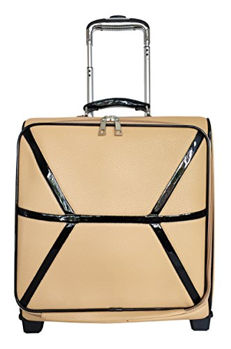 Carryon Laptop Computer Bag Rolling Travel Wheel Overnight Luggage Case Beige