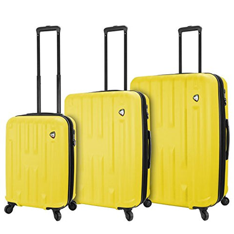 Mia Toro M1230-03pc-ylw Italy Nuovo Hardside Spinner Luggage 3pc Set, Yellow