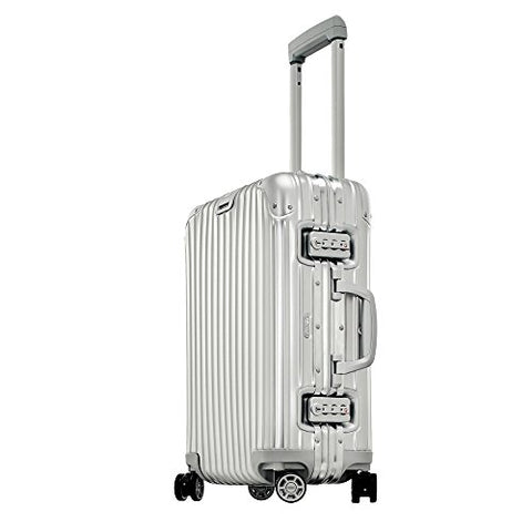 "Rimowa Topas IATA Carry on Luggage 21"" Inch Multiwheel 32L TSA Lock Spinner Suitcase Silver"