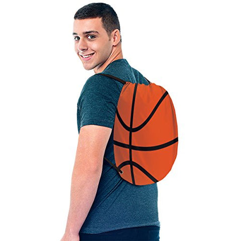 Basketball Drawstring Backpack, Party Favor