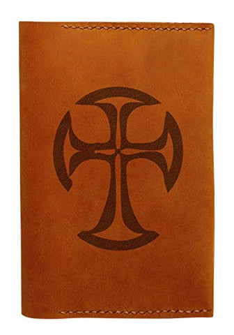 Cross Design Handmade Genuine Leather Passport Holder Case Hlt_01
