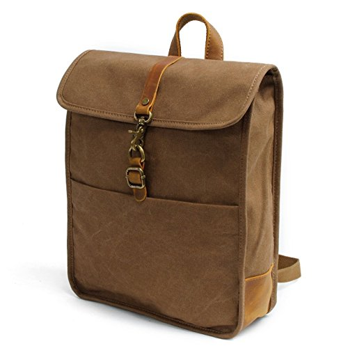 New, retro, trend, simple, oil wax waterproof, canvas bag, backpack, B0041