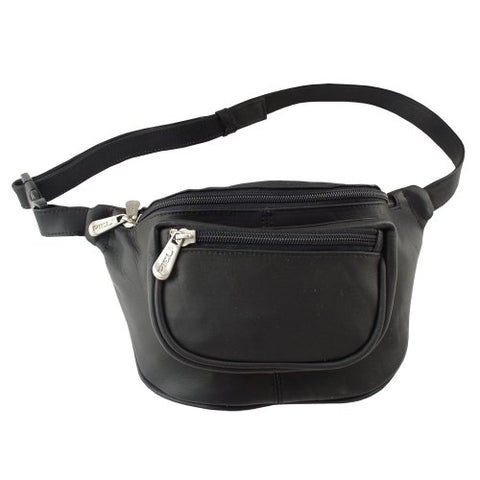 Piel Leather Travelers Waist Bag, Black, One Size
