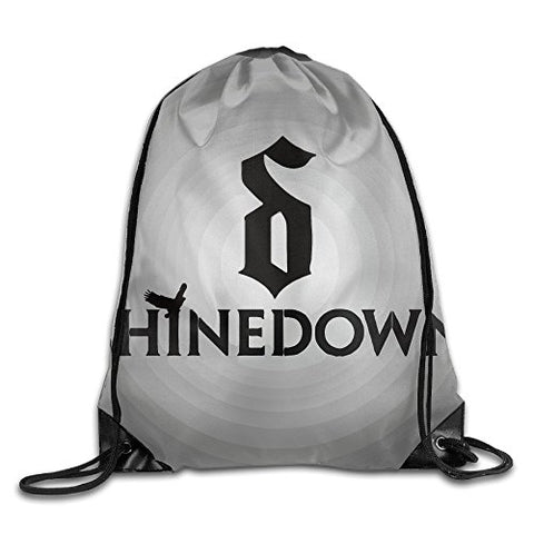 Shinedown God Of Hard Rock Drawstring Backpack Shoulder Bag