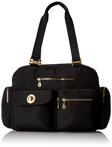 Baggallini Gold International Venice Laptop Tote, Black