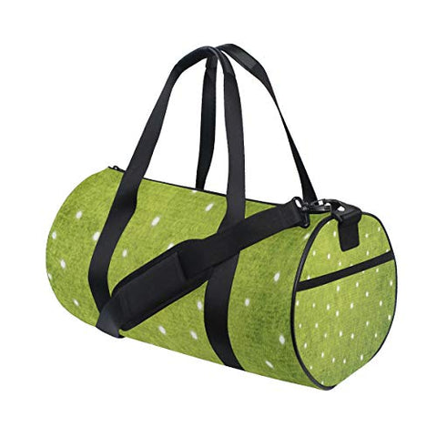 Duffel Bag Green White Pattern Women Garment Gym Tote Bag Best Sports Bag for Boys