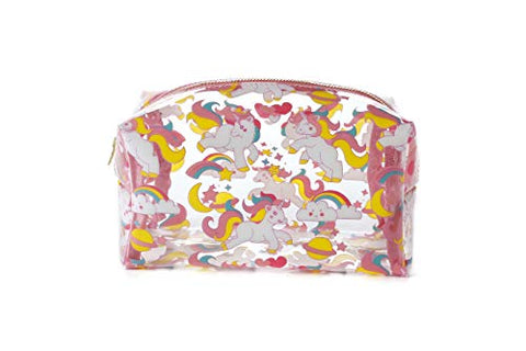 Unicorn Clear Cosmetic Makeup Bag Organizer with YKK Zipper