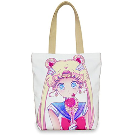 Siawasey Sailor Moon Cosplay Shoulder Bag School Bag Shopping Bag Handbag (S4)
