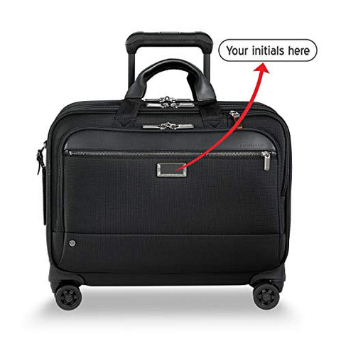 Briggs & Riley @work Large Spinner Briefcase (BLACK, FREE MONOGRAMMING)