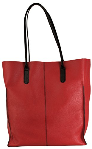 Hadaki 0-88161-27758-5 Market Tote - Deep Red & Black Trim