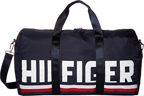 Tommy Hilfiger Men's Knox Hilfiger Rip Stop Nylon Duffel Tommy Navy One Size