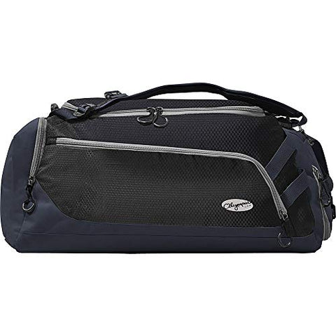 "Olympia Blitz 22"" Convertible Gym Duffel W/Backpack Straps Bag, BLACK+GRAY One Size"