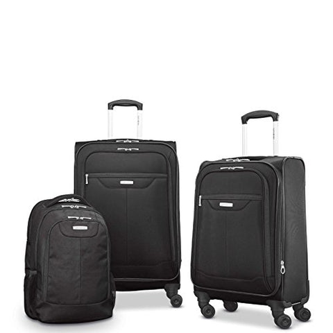 Samsonite Tenacity 3 Piece Set - Luggage Black Color - Free Shipping
