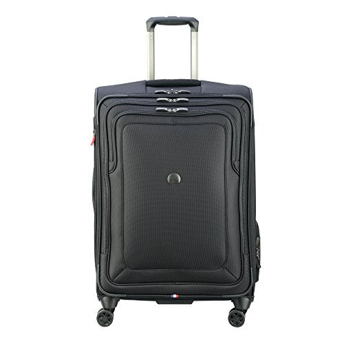 "Delsey Luggage Cruise Lite Softside 25"" Exp. Spinner Suiter Trolley, Black"
