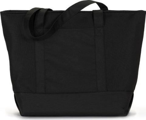 Zuzify Classic Giant Zippered Boat Tote Bag. Tp0180 Os Black / Black