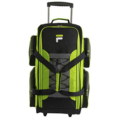 "Fila 26"" Lightweight Rolling Duffel Bag, Neon Lime, One Size"