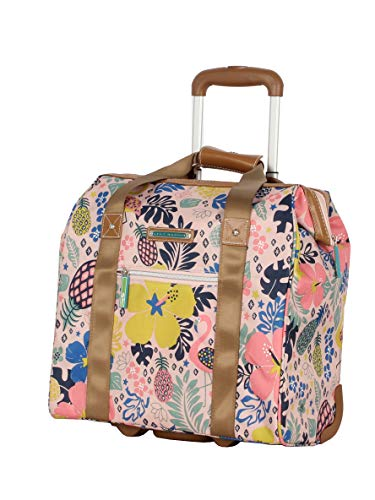 Lily Bloom Design Pattern Carry on Bag Wheeled Cabin Tote (Cabin Pink)