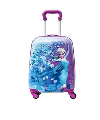 Disney Frozen Hard Side Spinner Trolley 18 Inch Luggage for Kids [Blue]