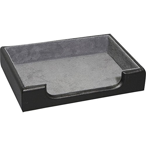 Royce Leather Desk Accessory Tray (Black)