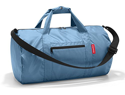 reisenthel Mini Maxi Dufflebag, Foldable Overnight Duffel and Sports Bag with Built-in Carrying Pouch, Indigo