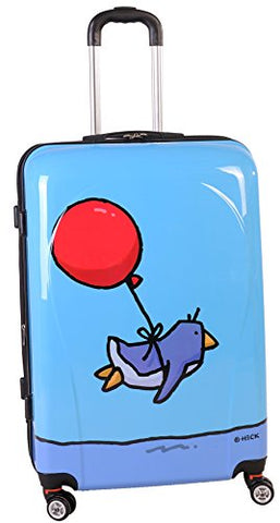 Ed Heck Flying Penguin Hardside Spinner Luggage 28 Inch, Sky Blue, One Size