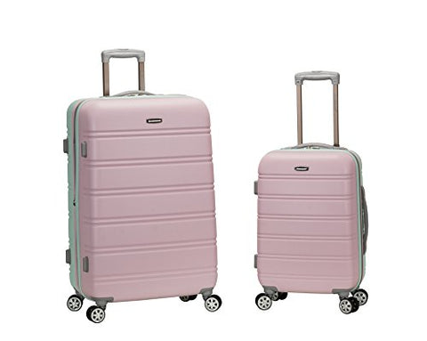 Rockland 20 Inch 28 Inch 2 Piece Expandable Abs Spinner Set, Mint, One Size