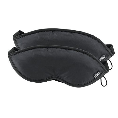 Lewis N. Clark Comfort Eye Mask With Adjustable Straps Blocks Out All Light ,  Black,  One Size, Pack of 2