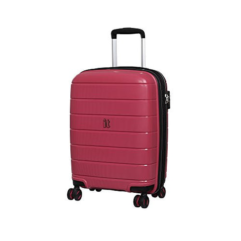 "It Luggage 21.3"" Asteroid 8-Wheel Hardside Expandable Carry-On, Rose Red"