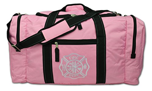 Lightning X Value Firefighter Turnout Gear Bag W/ Maltese Cross - Pink