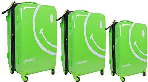 Smiley World Wink 3-Piece Set By Atm Luggage (One Size, Green)