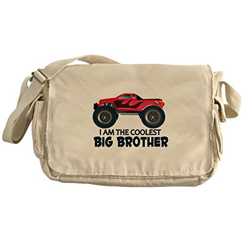 Cafepress - Coolest Big Brother - Truck - Unique Messenger Bag, Canvas Courier Bag