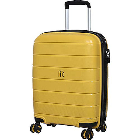 "IT Luggage 21.3"" Asteroid 8-Wheel Hardside Expandable Carry-on, Cheese Yellow"