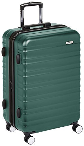 Amazonbasics Premium Hardside Spinner Luggage With Built-In Tsa Lock - 24-Inch, Green
