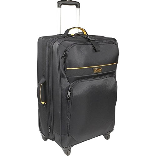 "A. Saks Expandable 27"" Spinner Upright With Removable Suiter (Black)"