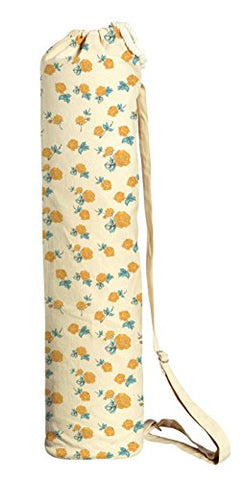Elegant Seamless Floral Pattern Printed Canvas Yoga Mat Bags Carriers Was_41