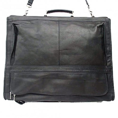 Piel Leather Executive Expandable Garment Bag, Black, One Size
