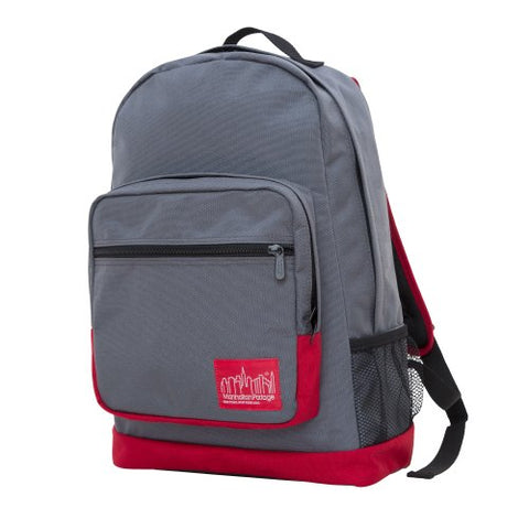 Manhattan Portage Morningside Backpack, Grey/Red/Red, One Size