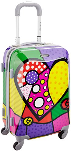 Rockland 20 Inch Polycarbonate Carry On, Heart, One Size