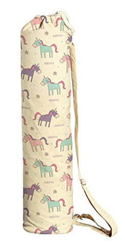 Cute Unicorn Pattern-2 Printed Canvas Yoga Mat Bags Carriers Was_41