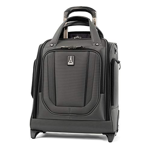 Travelpro Crew Versapack Rolling Underseat Carry-on, Titanium Grey