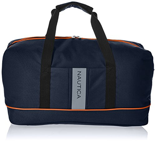 Nautica Gennaker Carry Duffle, Navy/Orange