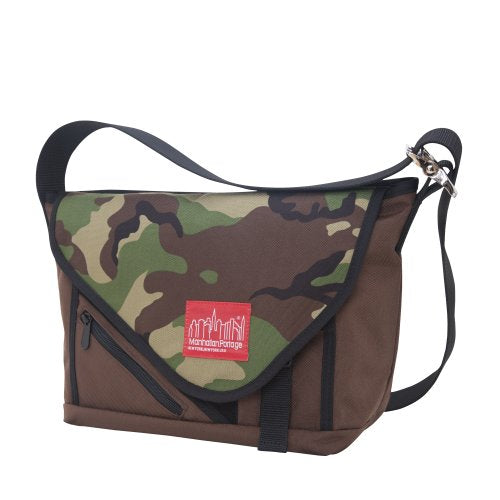 Manhattan Portage Flat Iron Messenger Bag, Small, Dark Brown/Camo/Black