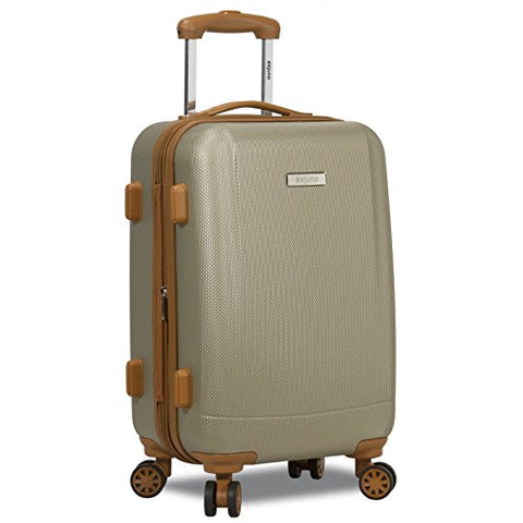 Dejuno Legion Hardside Spinner TSA Combination Lock Carry-on Suitcase-Beige