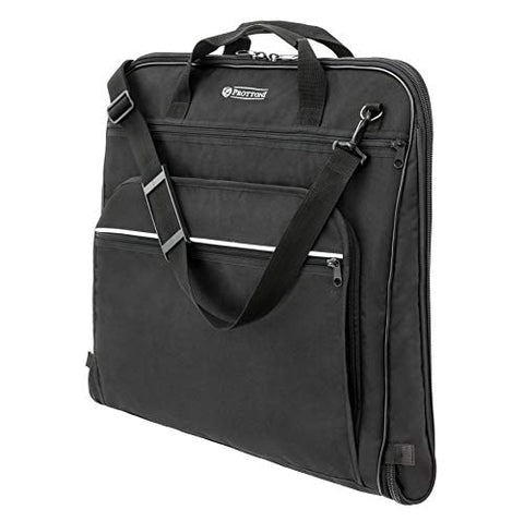Prottoni 44-inch Garment Bag for Travel – Water-Resistant Carry-On Suit Carrier