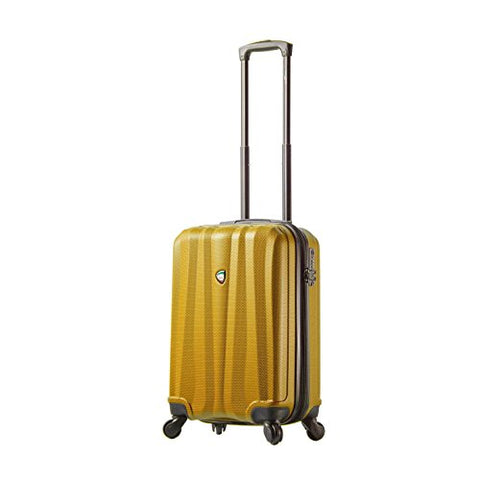 "Mia Toro Italy Pozzi Hardside Spinner 20"" Carry-on, Orange"