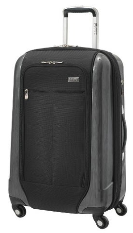 Ricardo Beverly Hills Luggage Crystal City 24 Inch Expandable Spinner Upright Suitcase, Black,